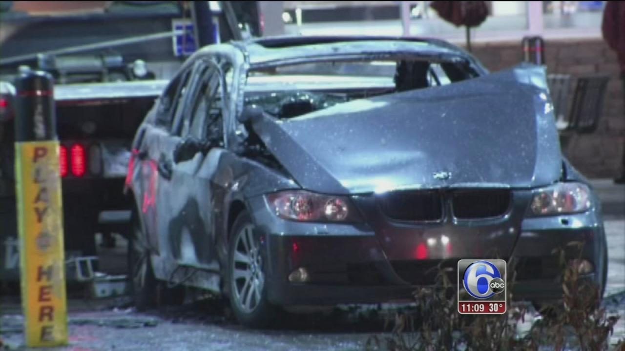 Driver crashes into Glenolden gas station
