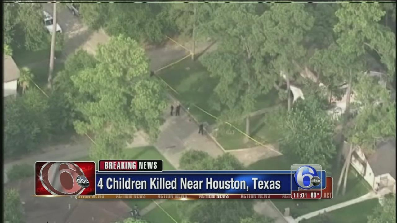 VIDEO: 4 kids among 6 dead in Houston area shooting