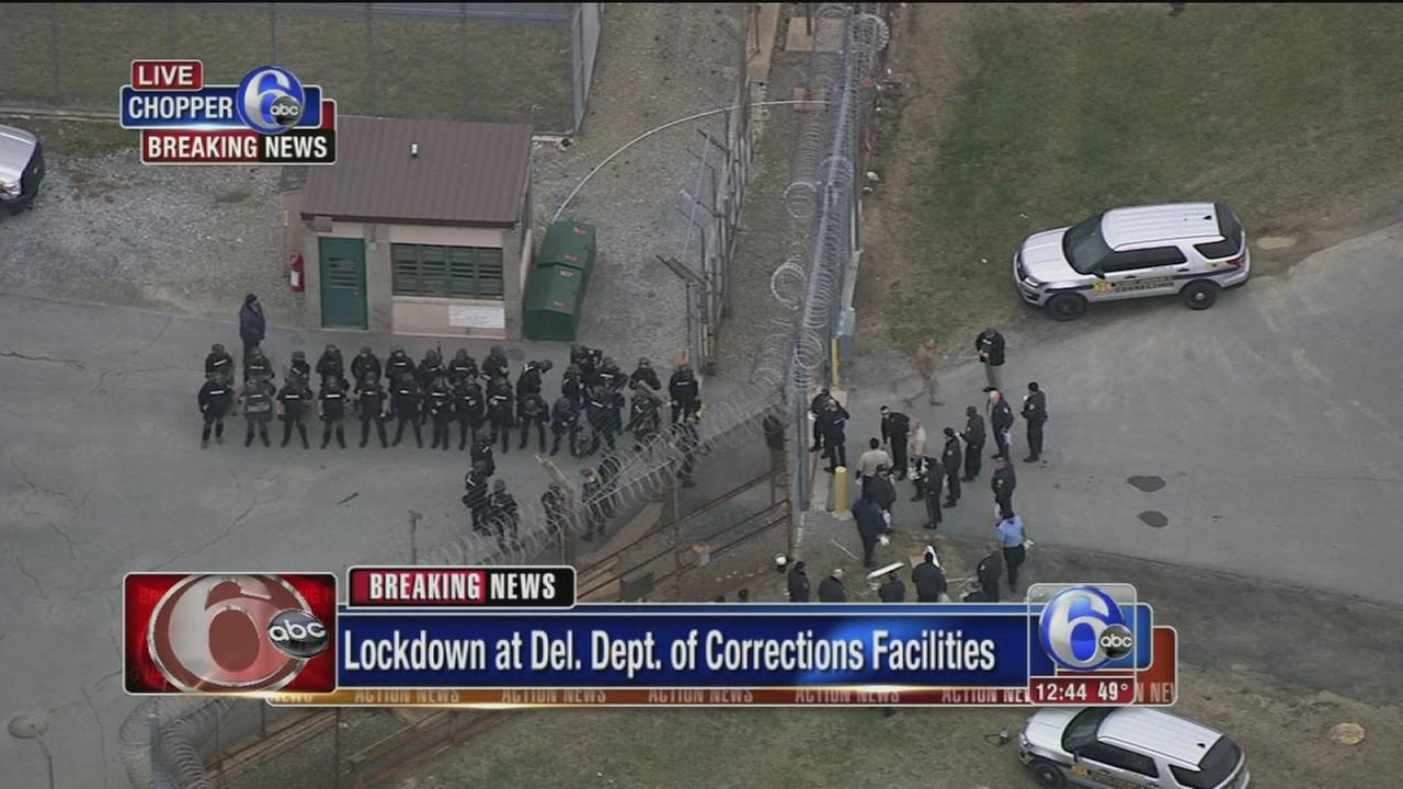 Authorities respond to hostage situation at Del. maximum security prison