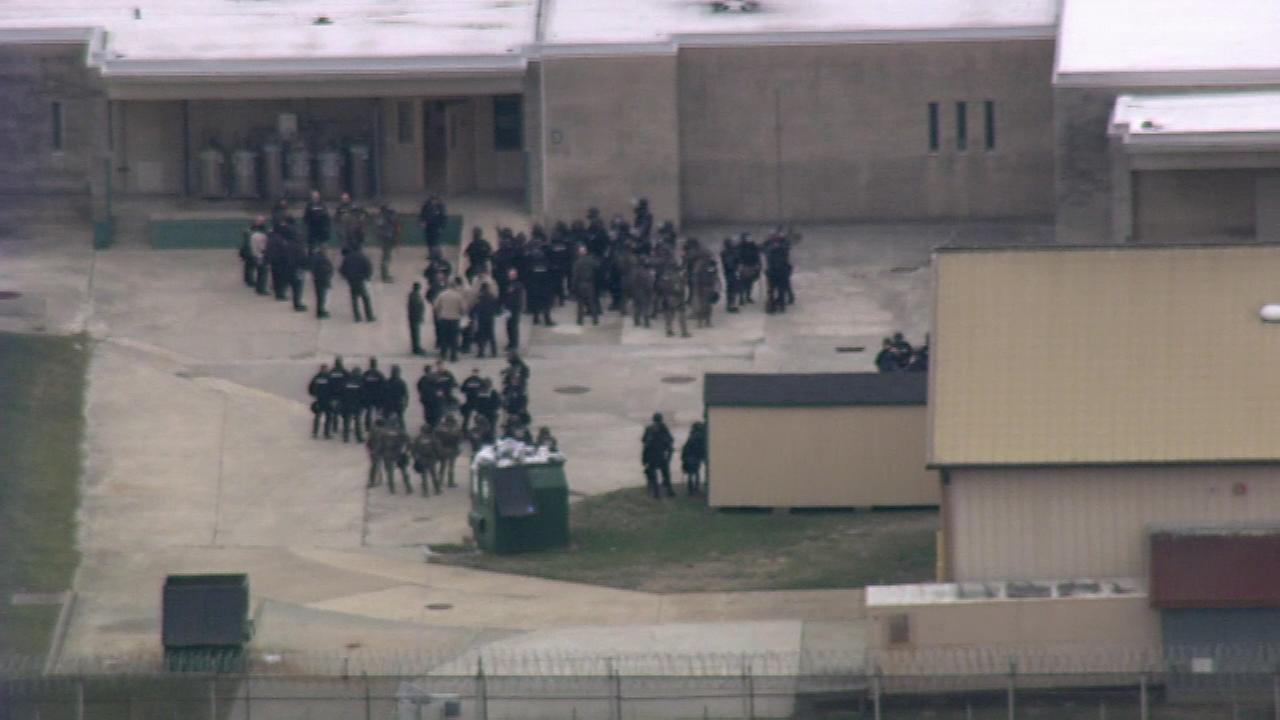 Chopper 6 was over the James Vaughn Correctional Facility in Smyrna, Delaware during a lockdown on February 1, 2017.