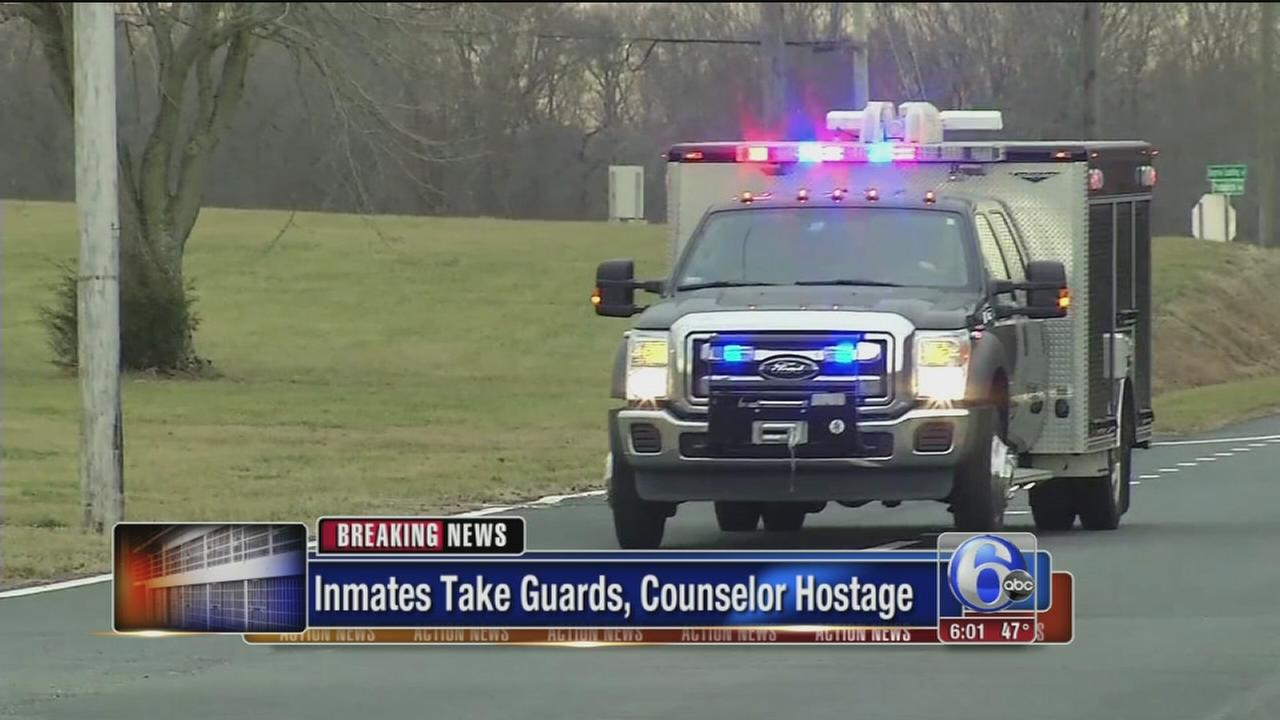 Hostage situation at prison in Smyrna, Del.