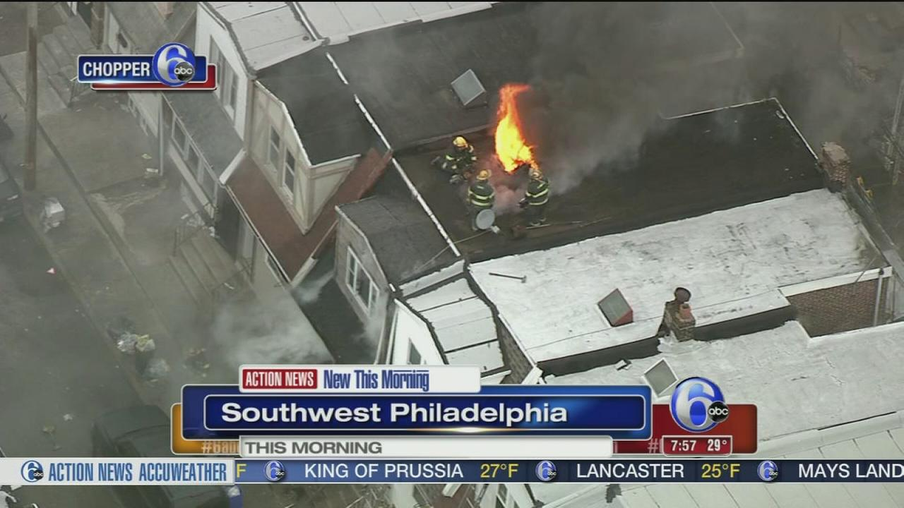 Fire damages home in SW Philly