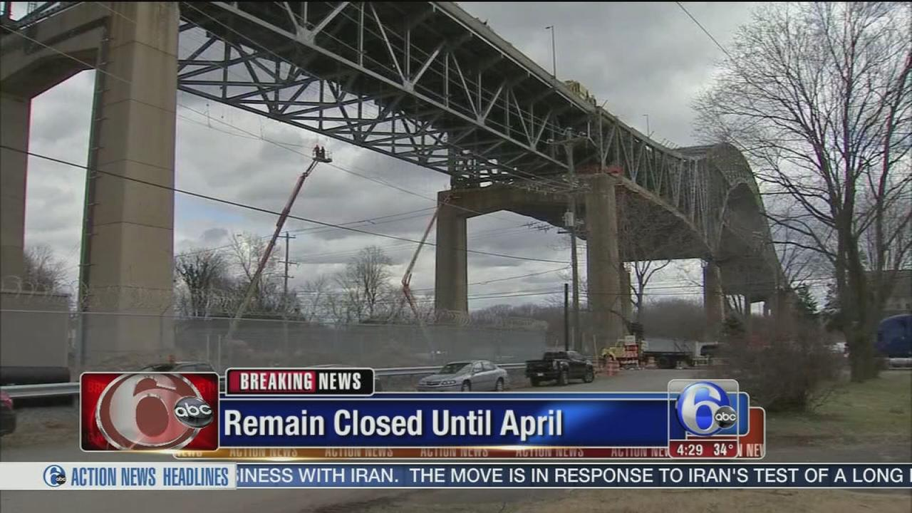 Delaware River Bridge closed until at least April