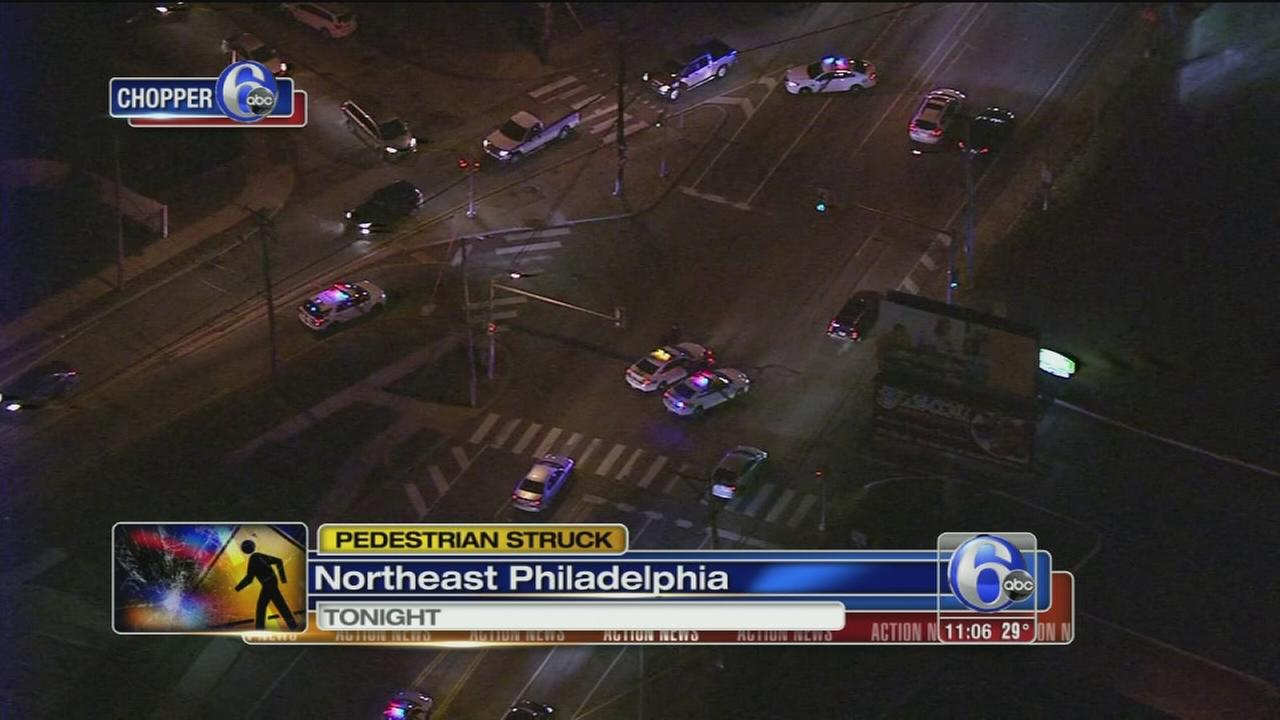 Pedestrian critical after being struck by SUV in NE Philly
