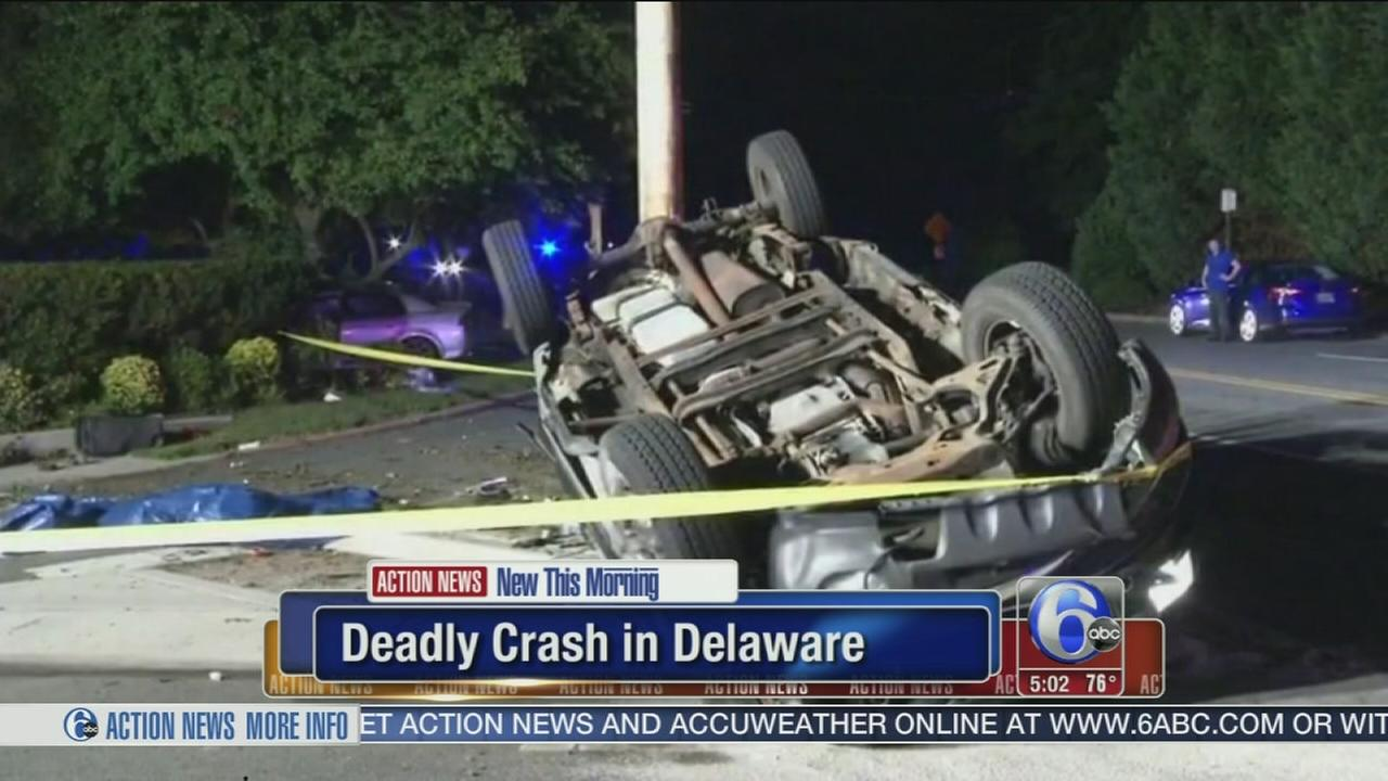 VIDEO: 1 dead after car and pickup truck collide in Del.