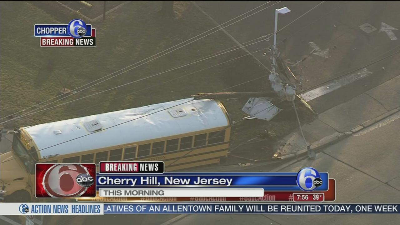 School bus crashes in Cherry Hill, NJ