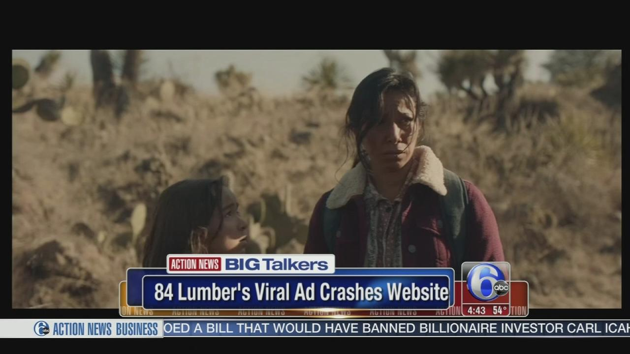84 Lumber viral Super Bowl ad crashes website