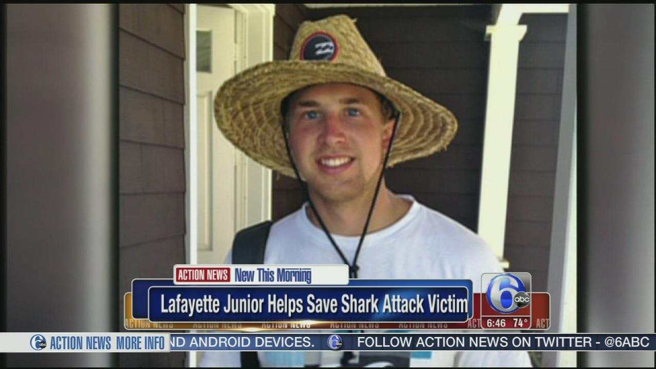 VIDEO: Lafayette student helps save shark attack victim