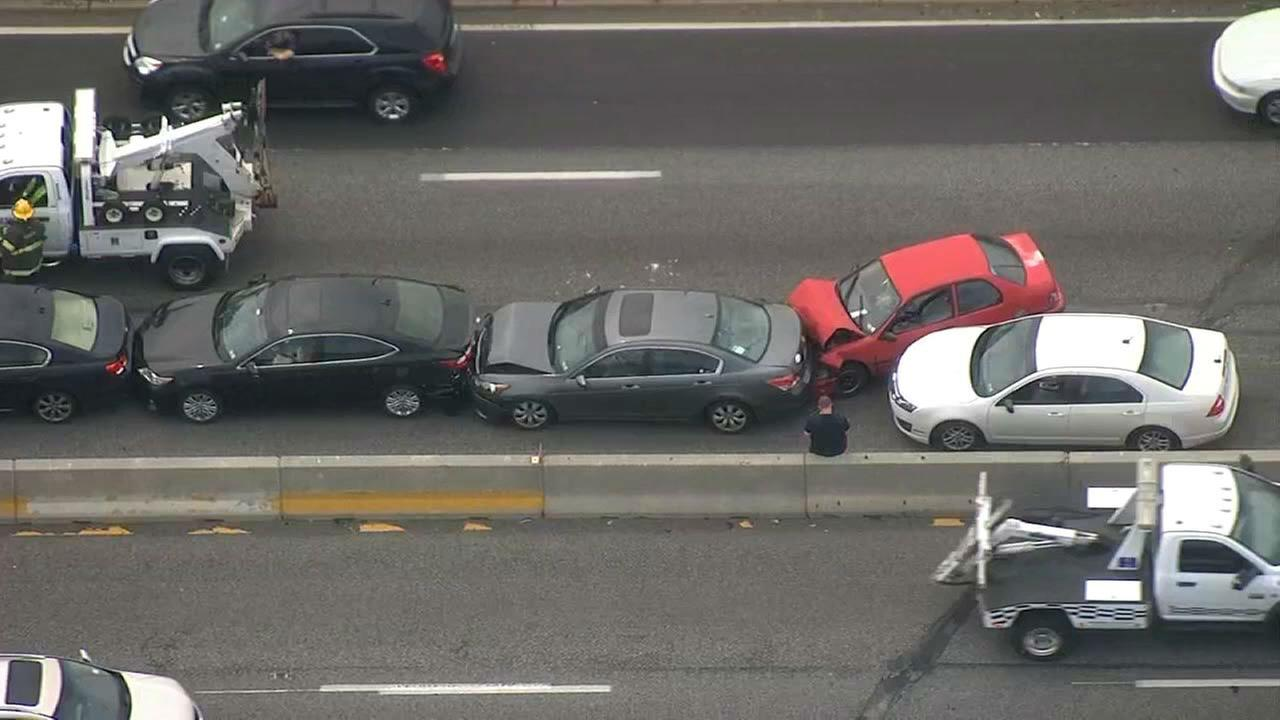 PHOTOS: Chain-reaction crash on I-95