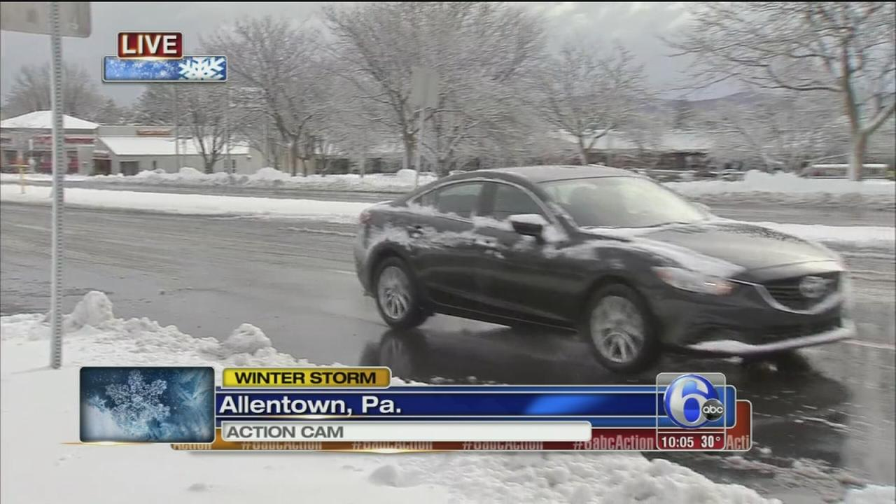 VIDEO: 6 inches of snow falls in Allentown