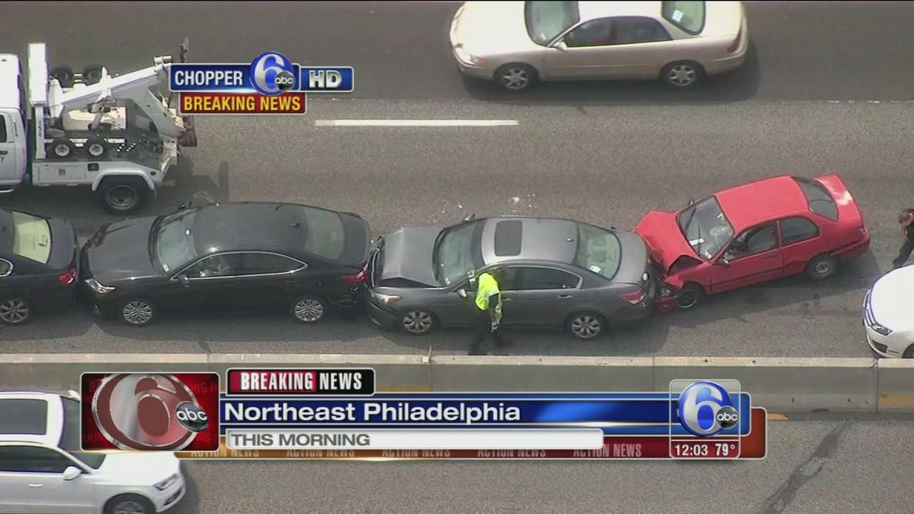 VIDEO: At least 10 cars involved in I-95 pileup