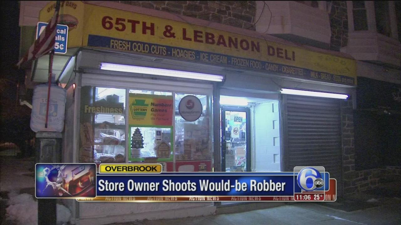 Store owner shoots would-be robber in Overbrook