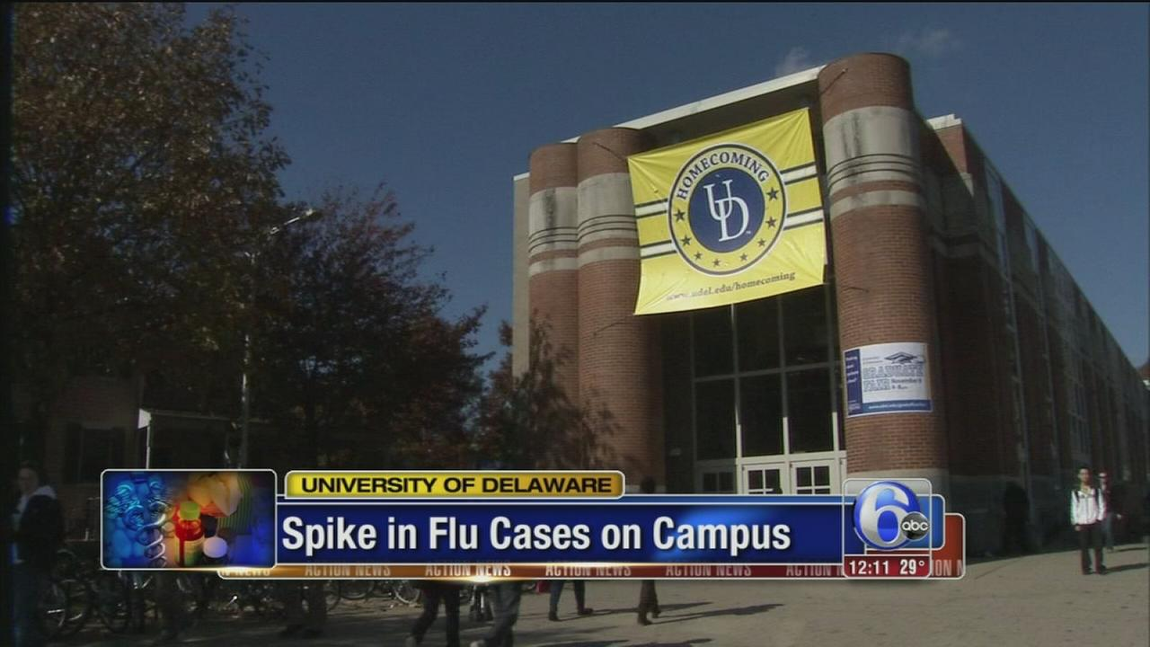 Flu cases spike on UDel campus