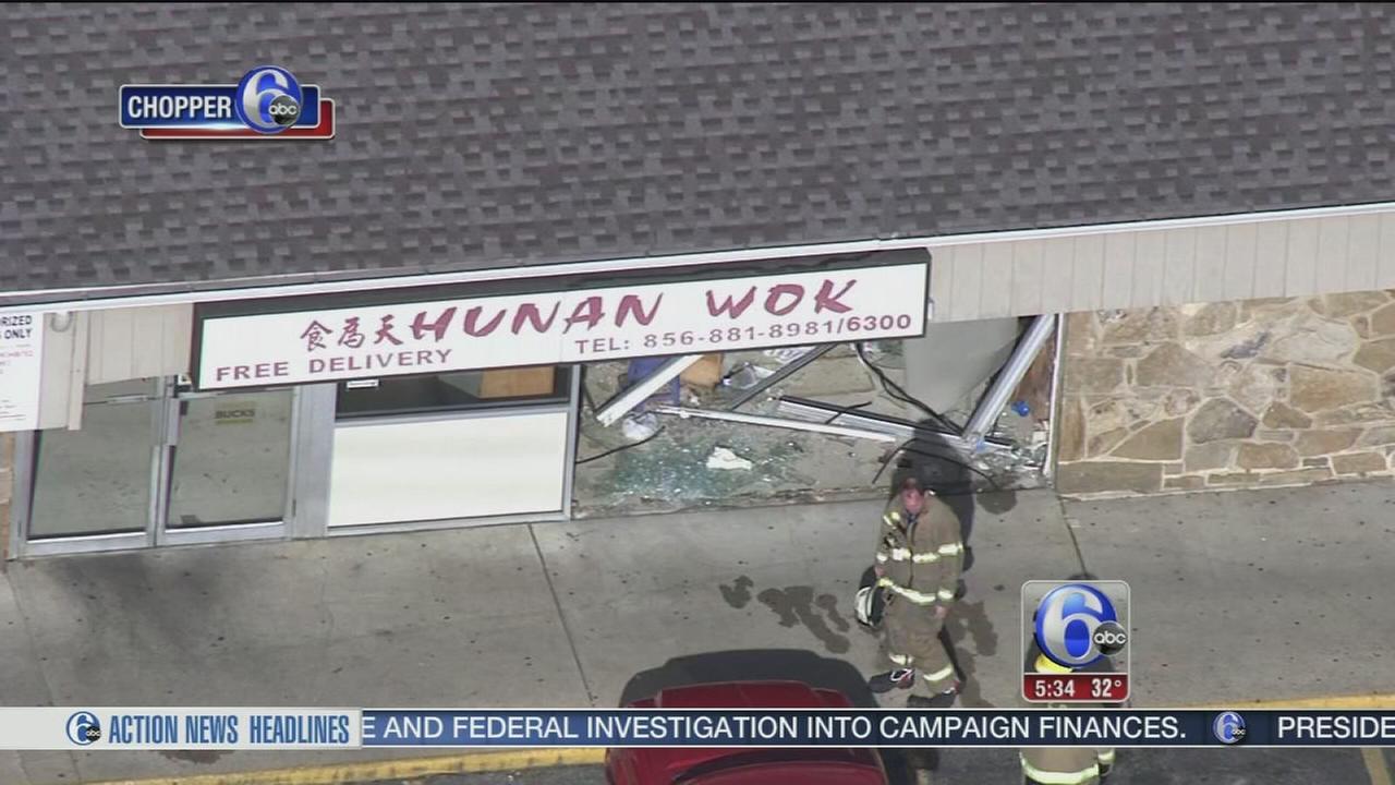 Vehicle slams into restaurant in Glassboro, N.J.