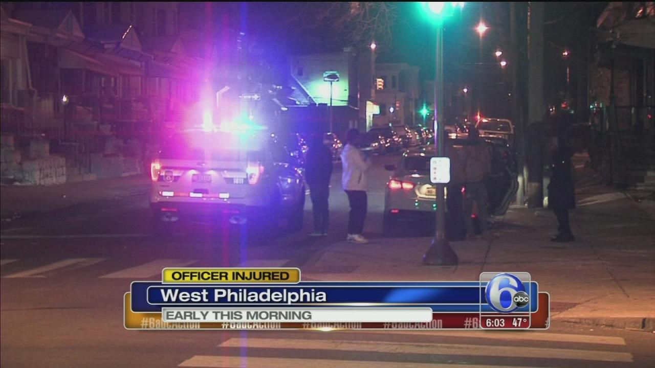 Officer dragged by hit-and-run driver in West Philadelphia