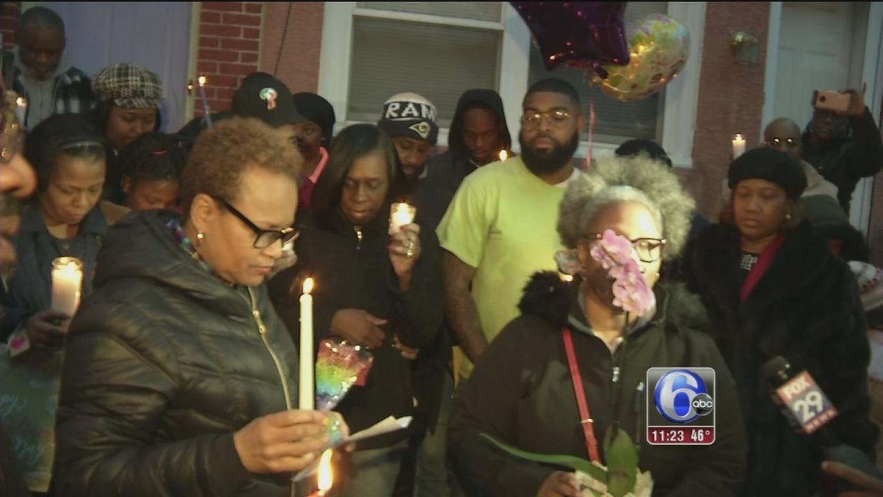 Vigil held for civic activist gunned down inside Powelton home