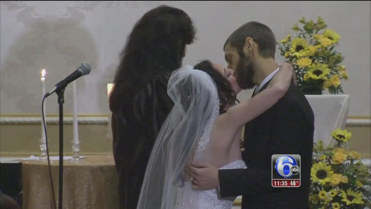 NJ couple who battled cancer together tie knot