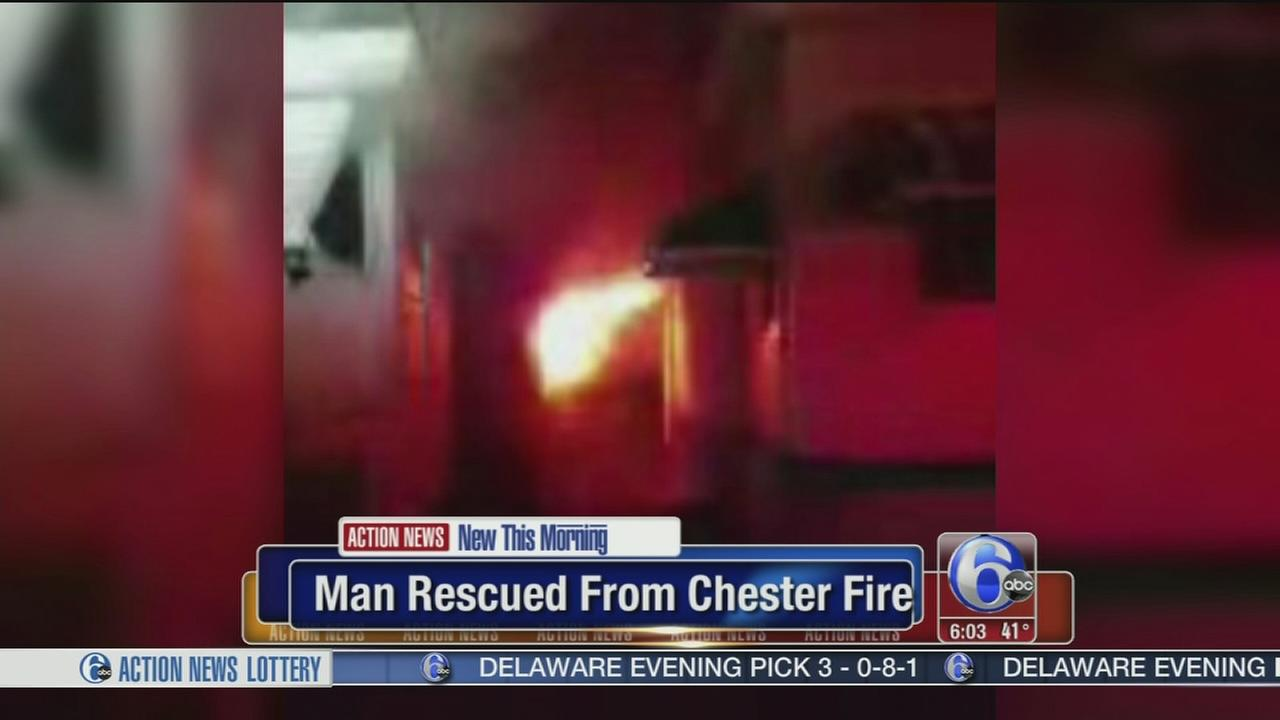 Man rescued from Chester house fire