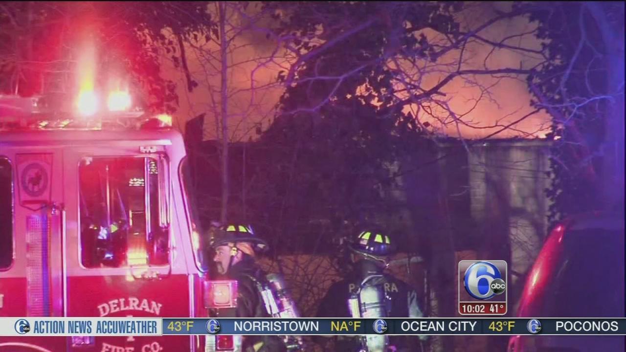 Firefighter injured in Delran fire