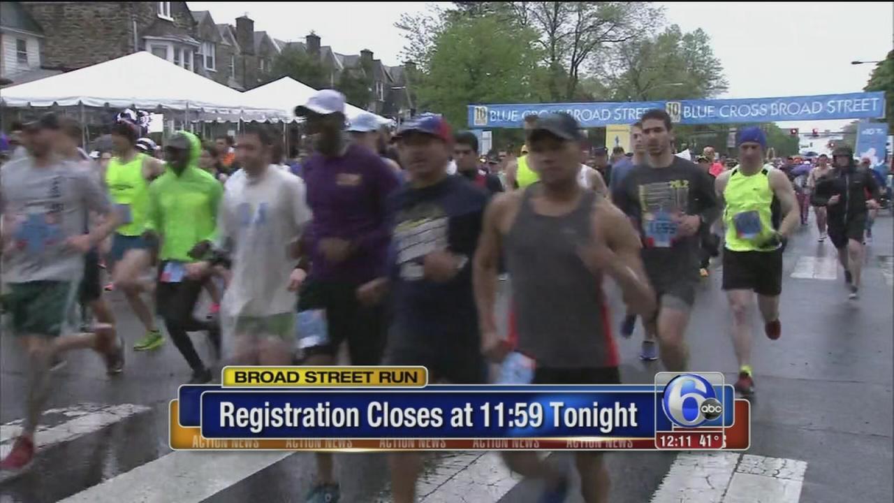 Broad St. Run lottery closes Monday night