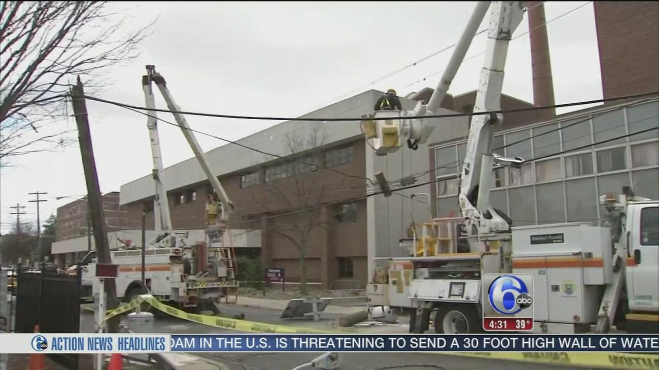 Power restored at hospital after truck takes down poles