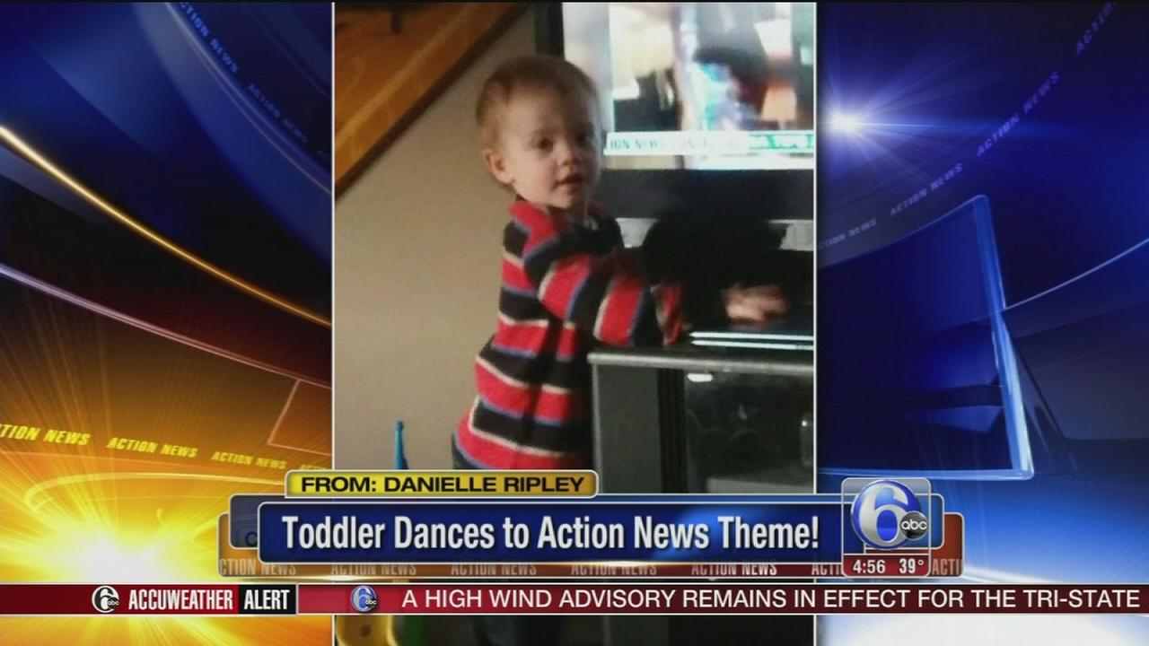 VIDEO: Toddler dances to Action News theme