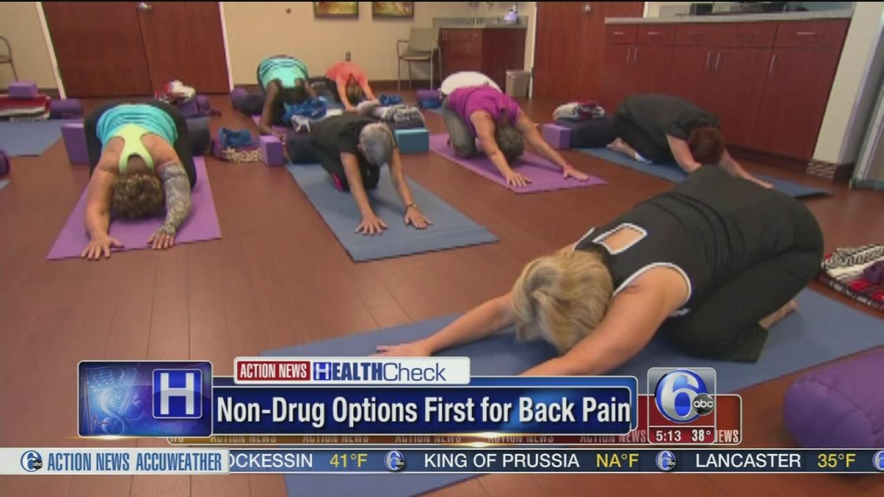 Experts: Non-drug options first for back pain
