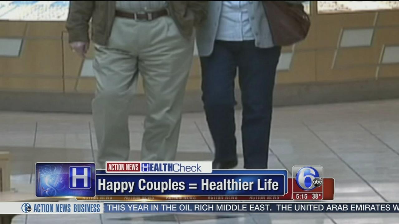 Happy couples, healthier life