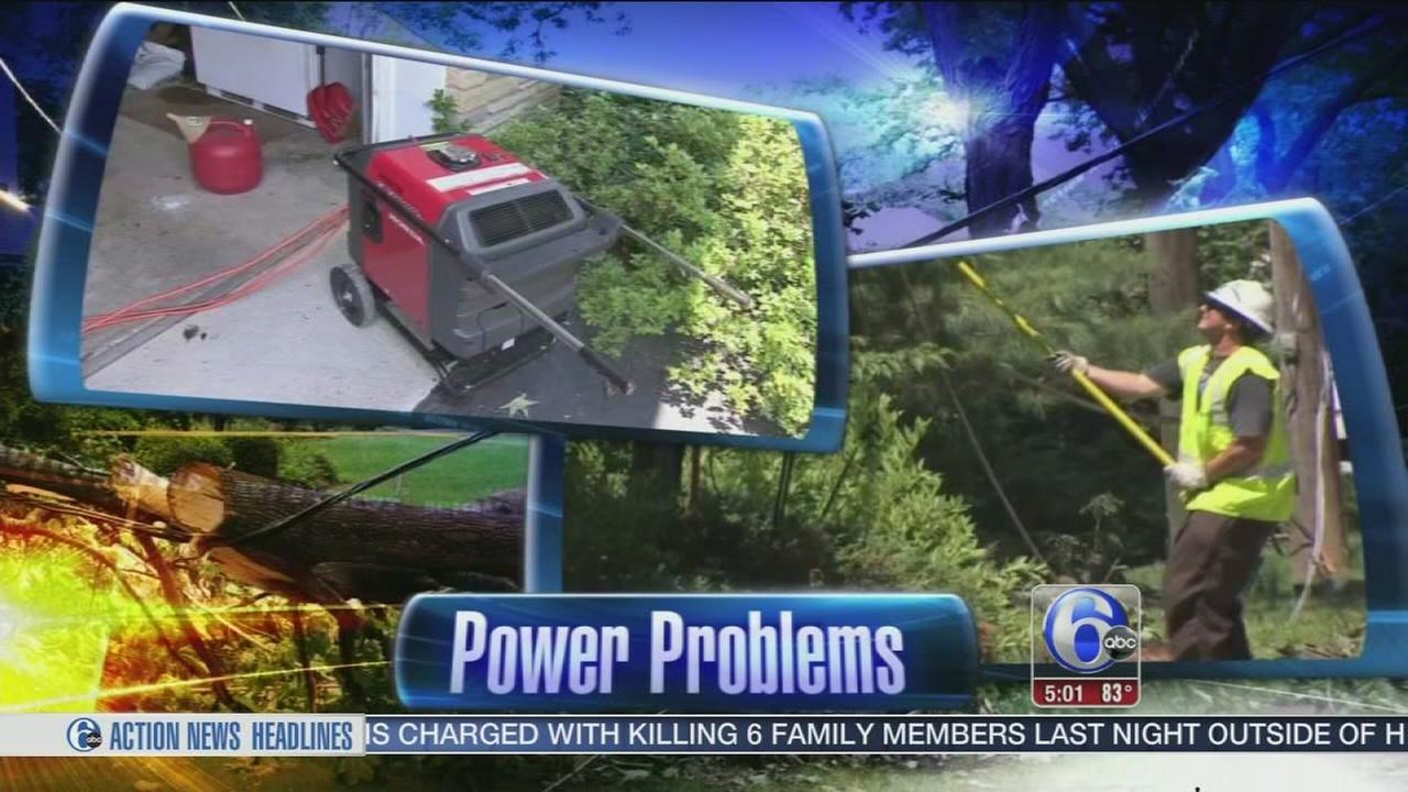 VIDEO: Power problems persist in Chester Co.