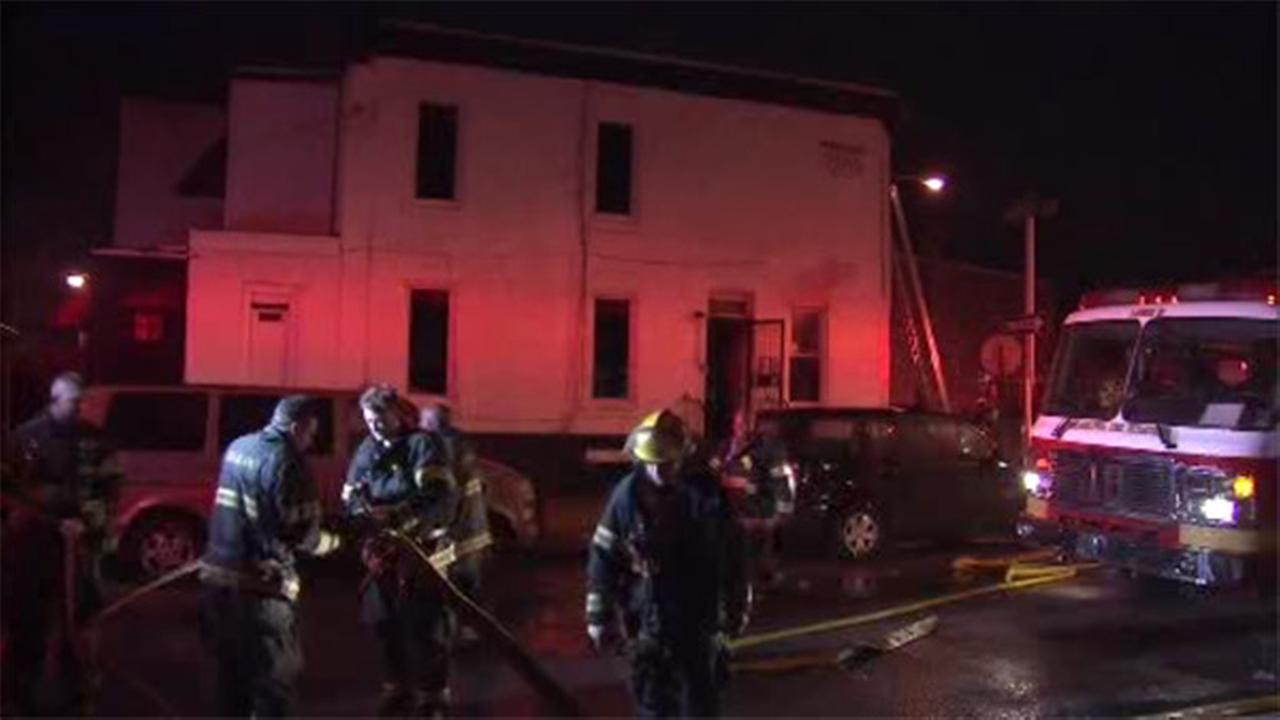 Basement fire damages house in North Philadelphia