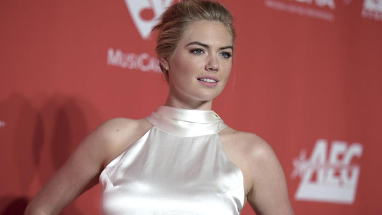 Kate Upton arrives at the MusiCares Person of the Year tribute honoring Tom Petty at the Los Angeles Convention Center on Friday, Feb. 10, 2017.