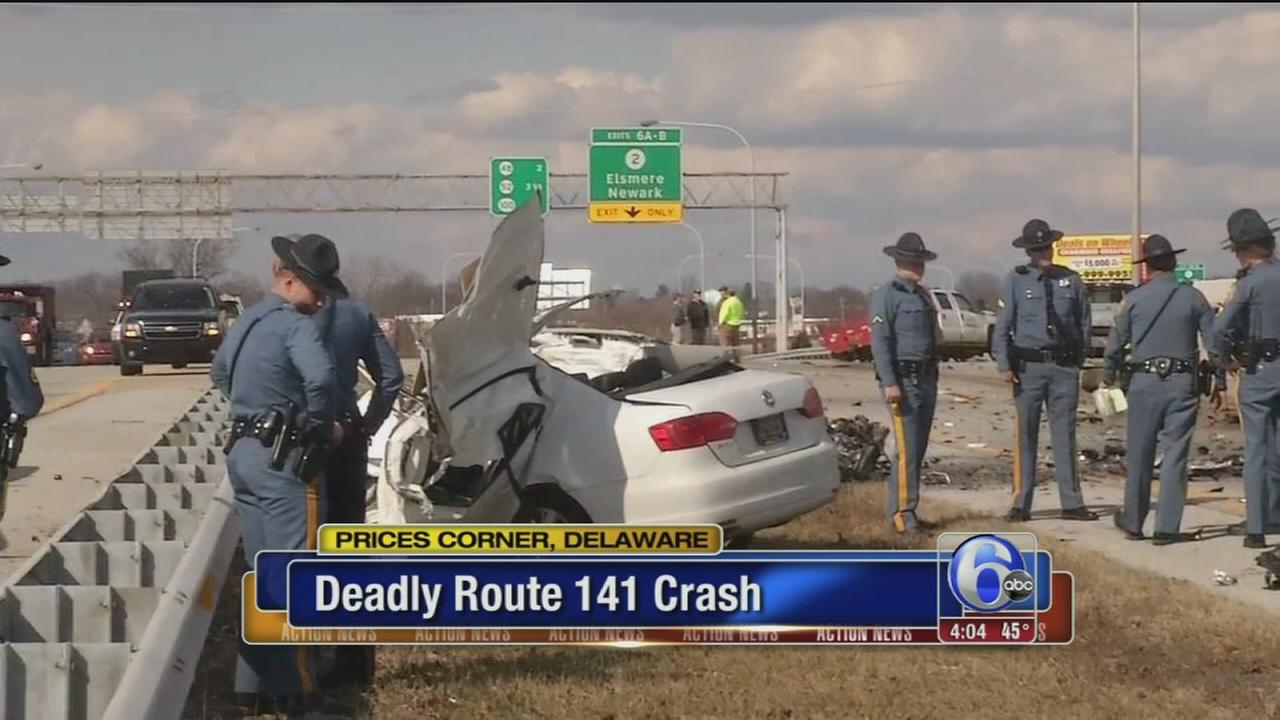 Fatal multi-vehicle crash on NB Rt. 141 in Del.