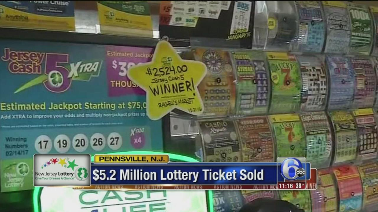 VIDEO: $5.2 million lottery ticket sold