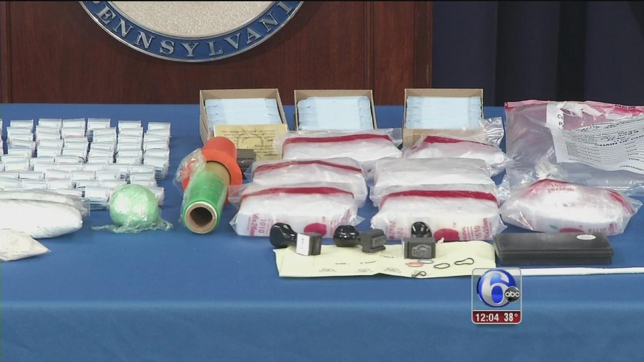 Pennsylvania AG announces 2 major drug busts
