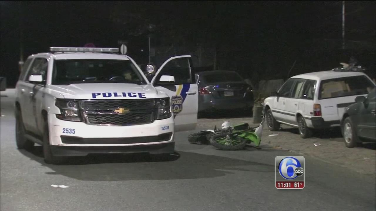Police: Officer injured in dirt bike chase in North Philly