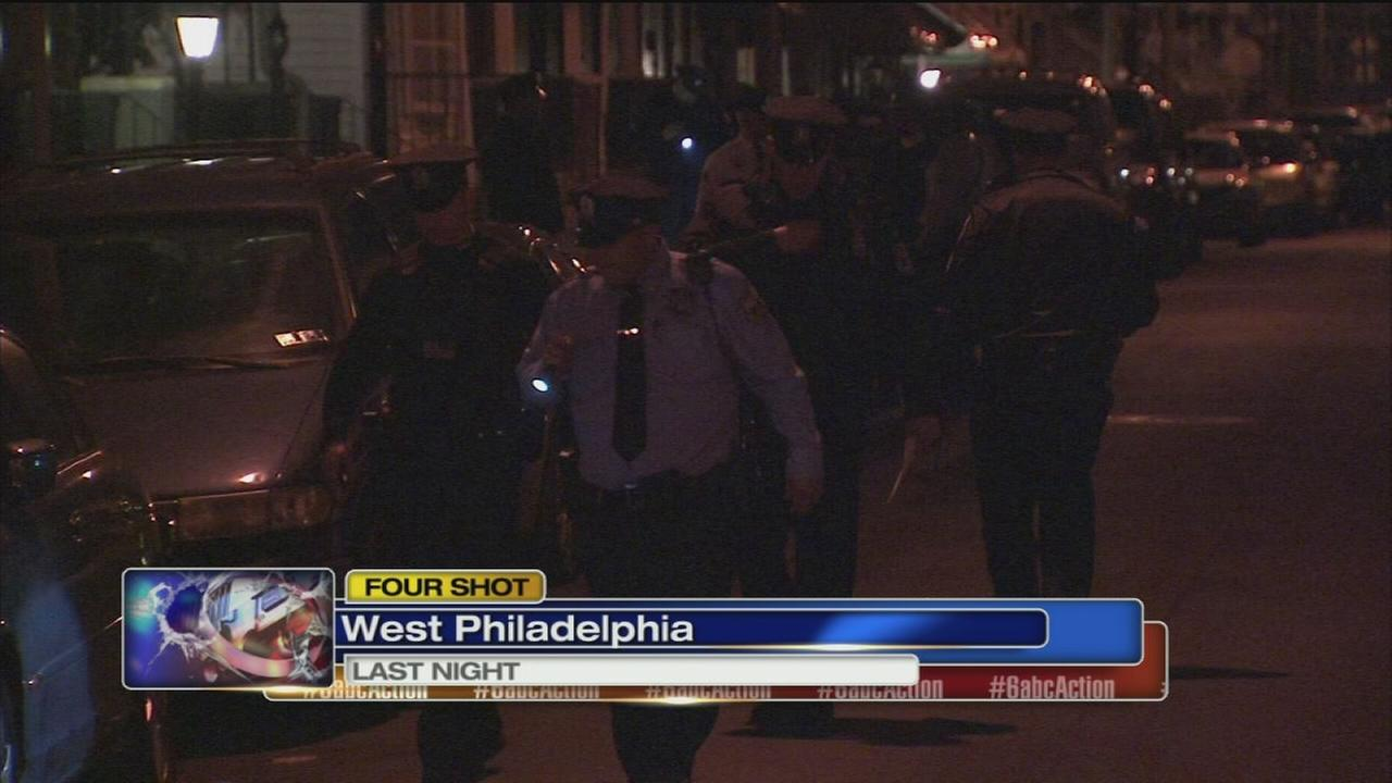 4 shot in West Philadelphia