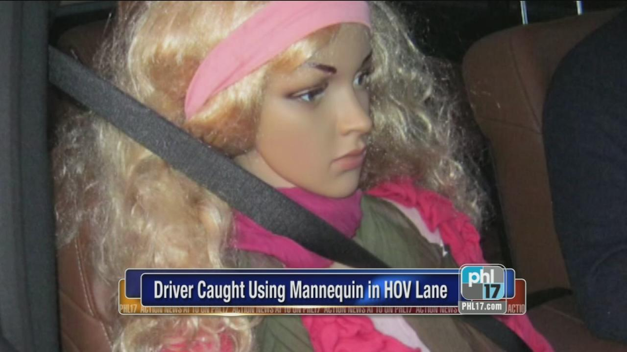 Driver uses mannequin for carpool lane use