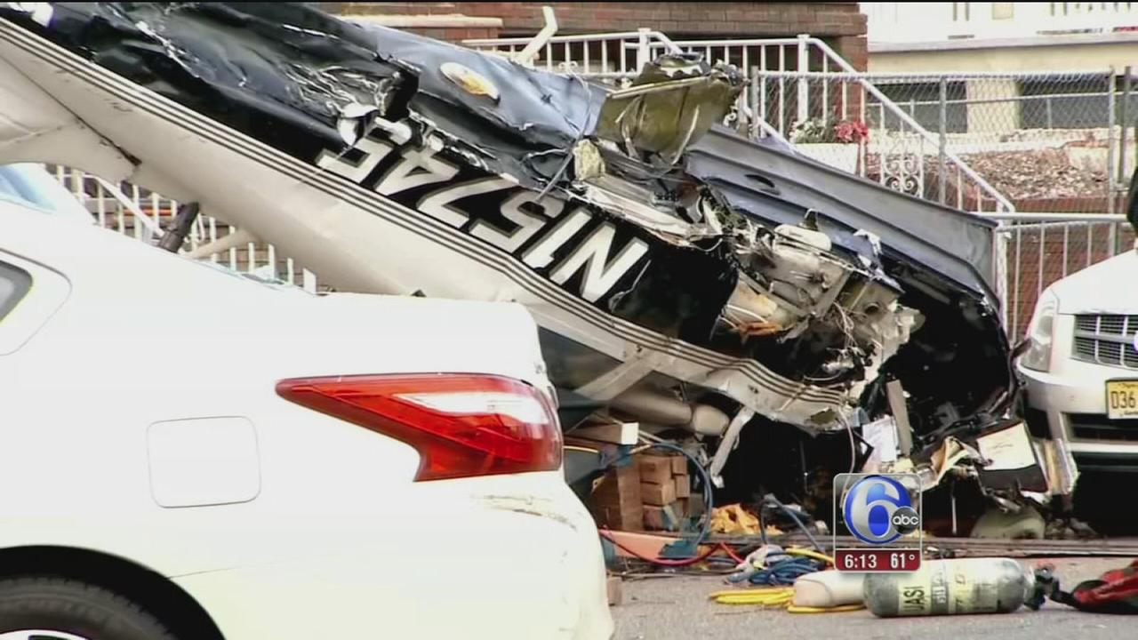 Small plane crashes in NJ; pilot pulled from wreckage