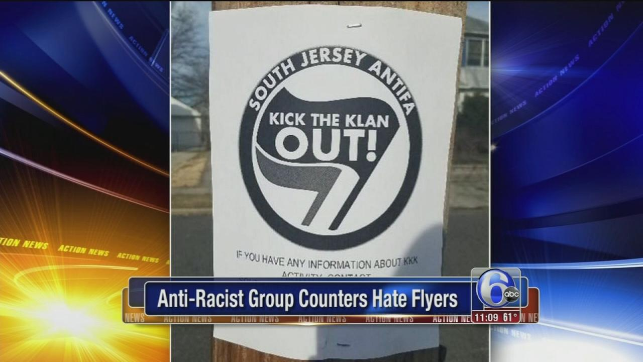 Anti-racist group counters hate flyers in NJ