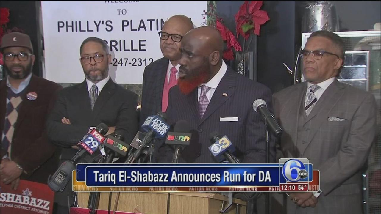 Tariq El-Shabazz announces run for district attorney
