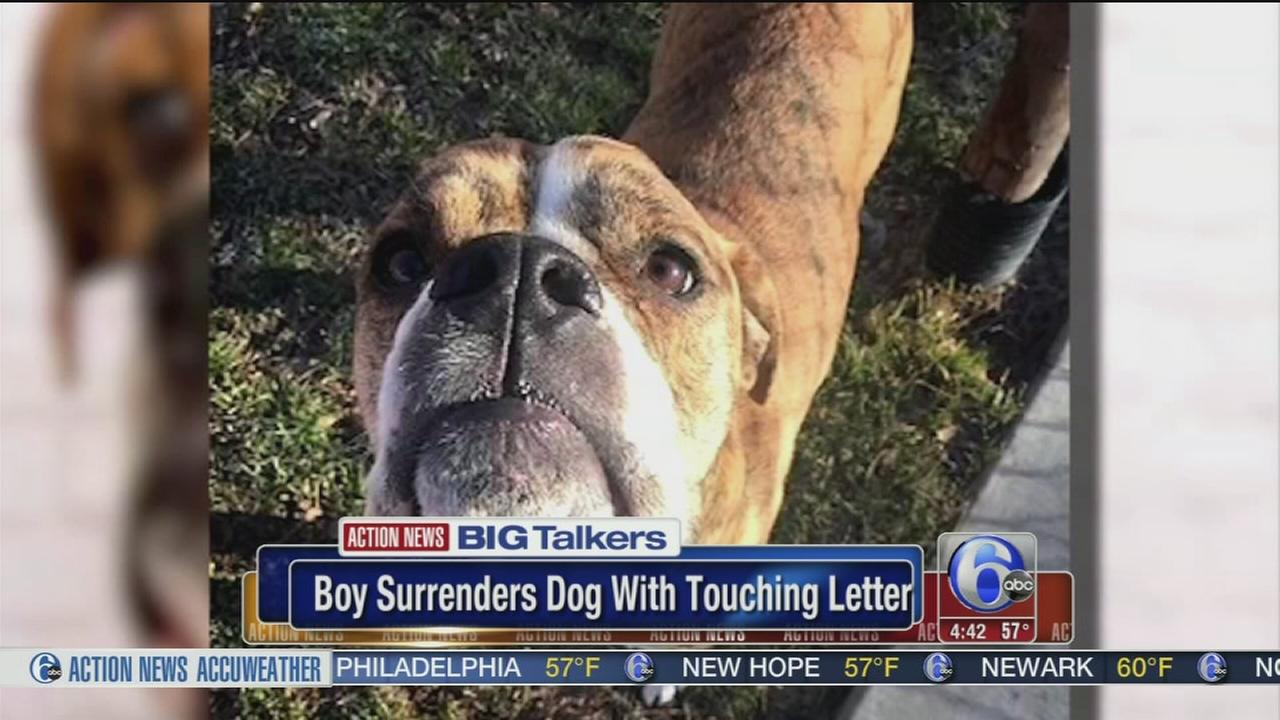 Boy surrenders dog with touching letter