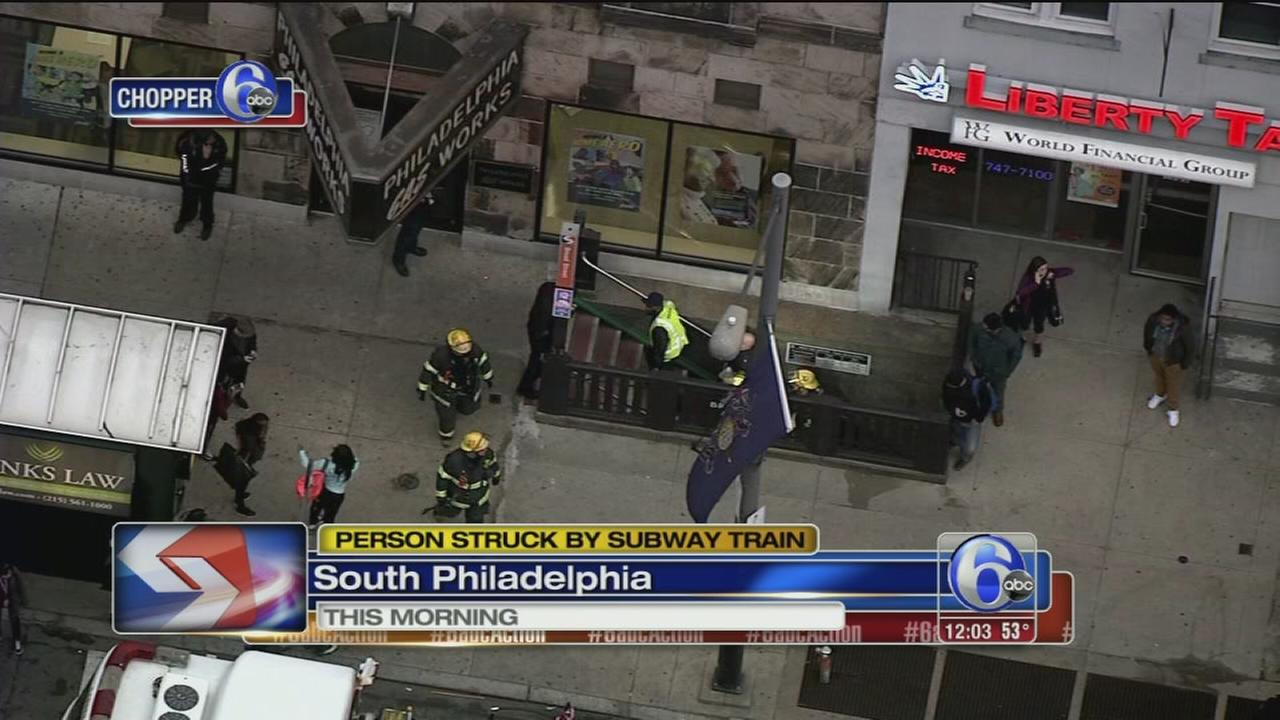 Person hit by SEPTA subway train