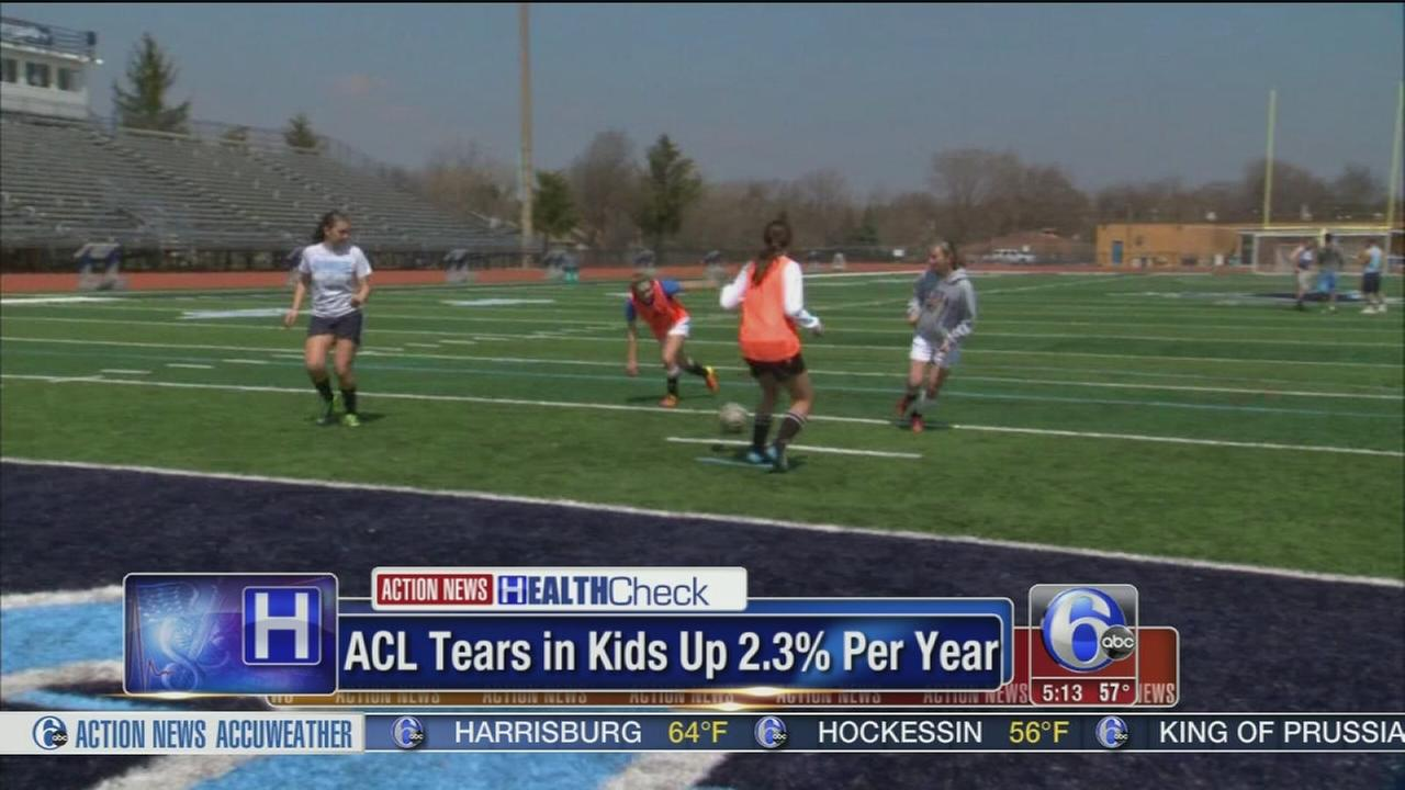 Report: ACL tears in kids up 2.3% per year