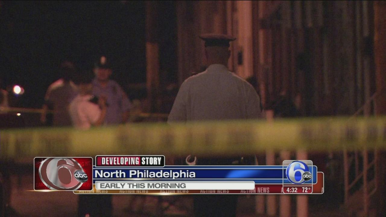 VIDEO: Man on bike shoots 2 men in North Phila.
