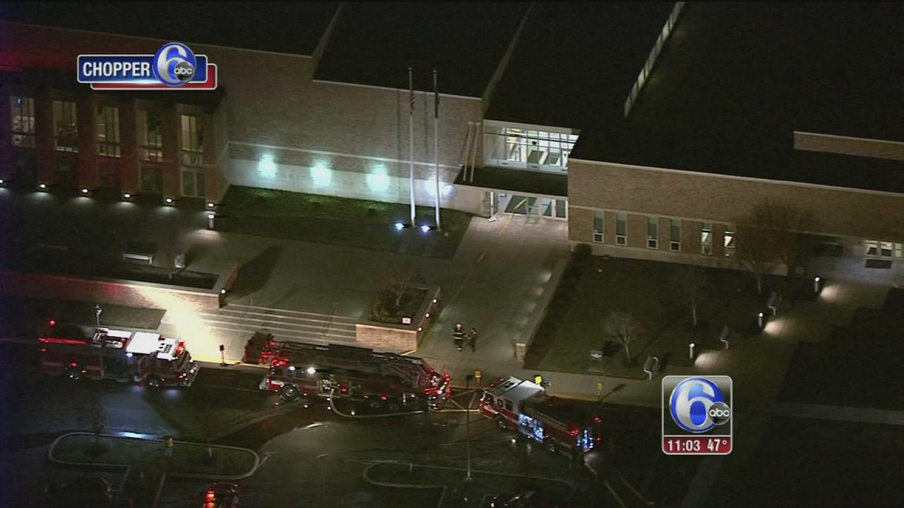 Fire erupts at Bucks County high school