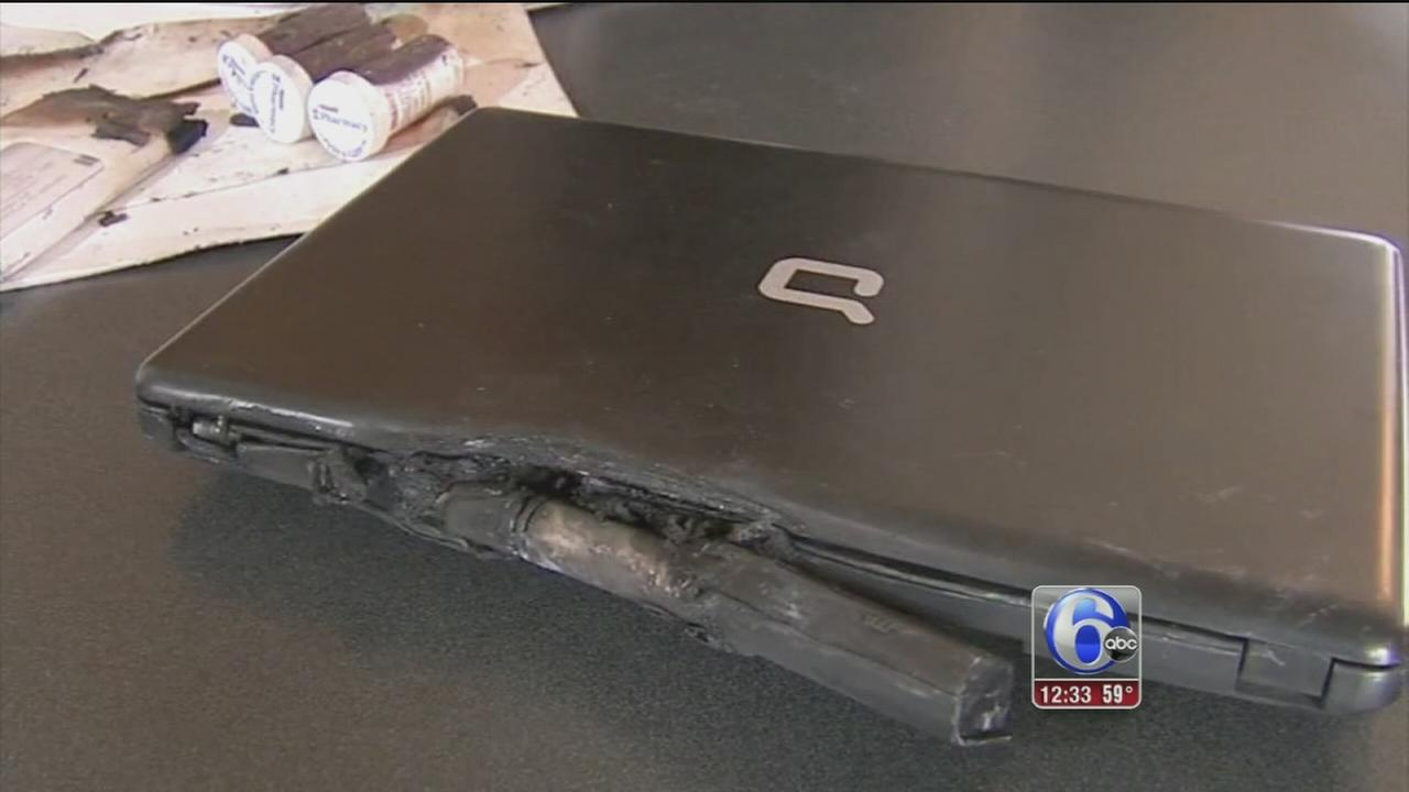 Laptop explodes in Chester County home