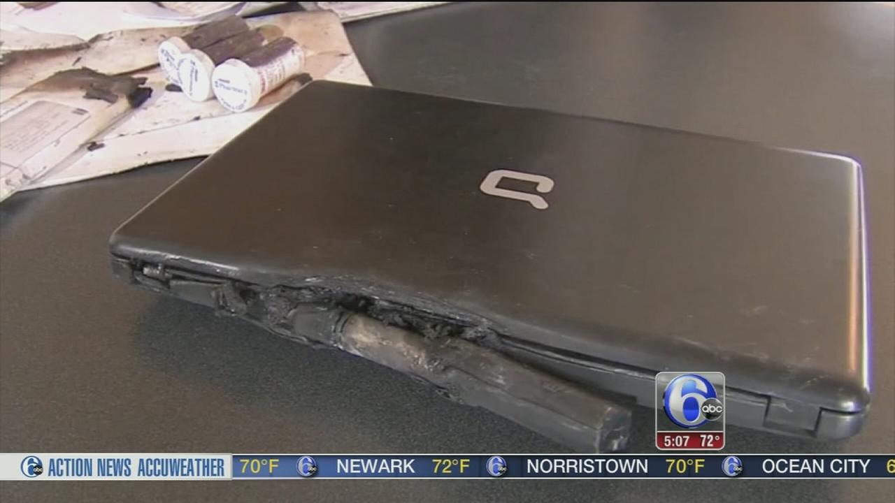 Laptop computer bursts into flames in Chester County home