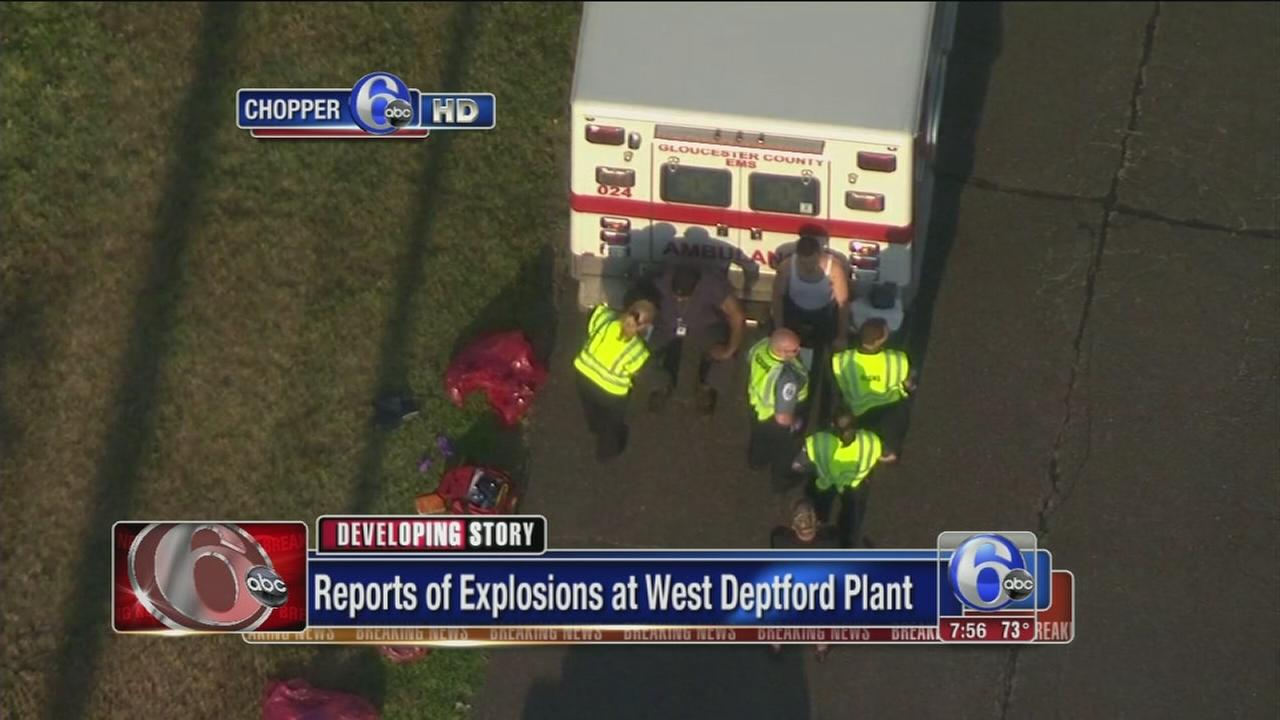 VIDEO: Explosions reported at West Deptford plant