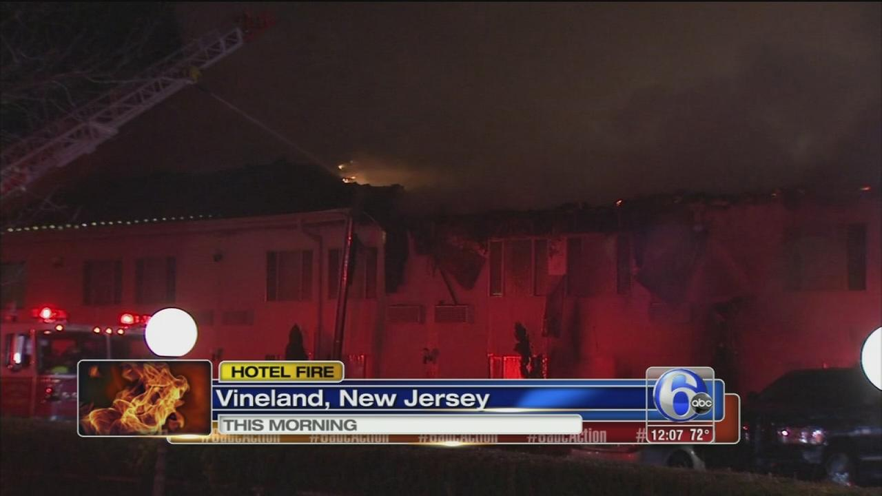 2 hurt in Ramada Inn fire in Vineland
