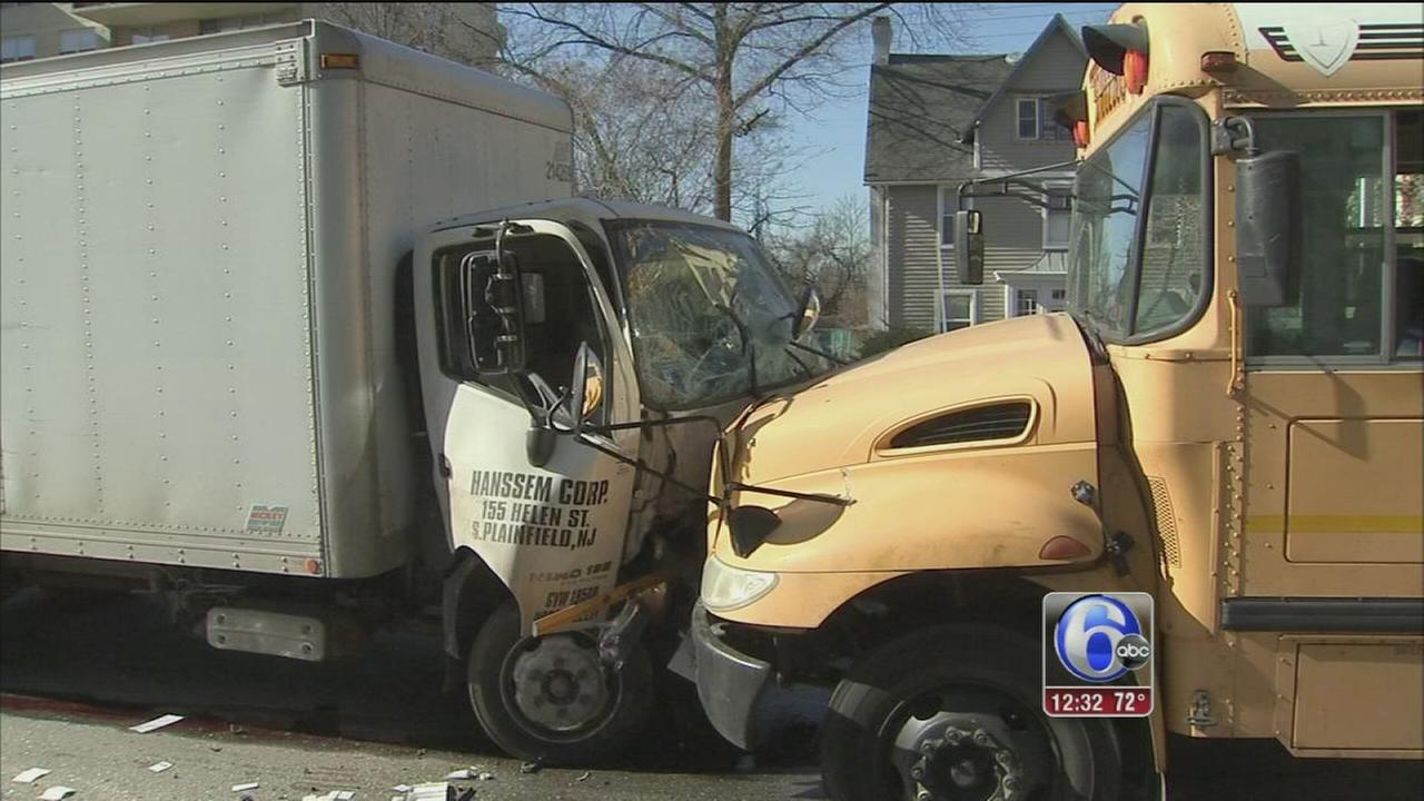 School bus, truck collide in Lr. Merion